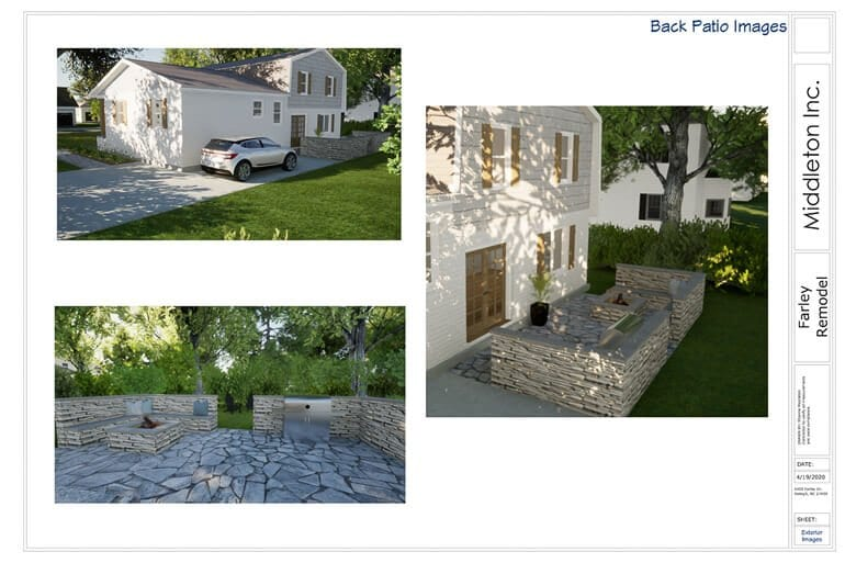 3D Renderings Remodel New Construction