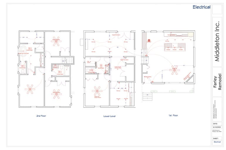 Electrical Plans Remodel New Construction