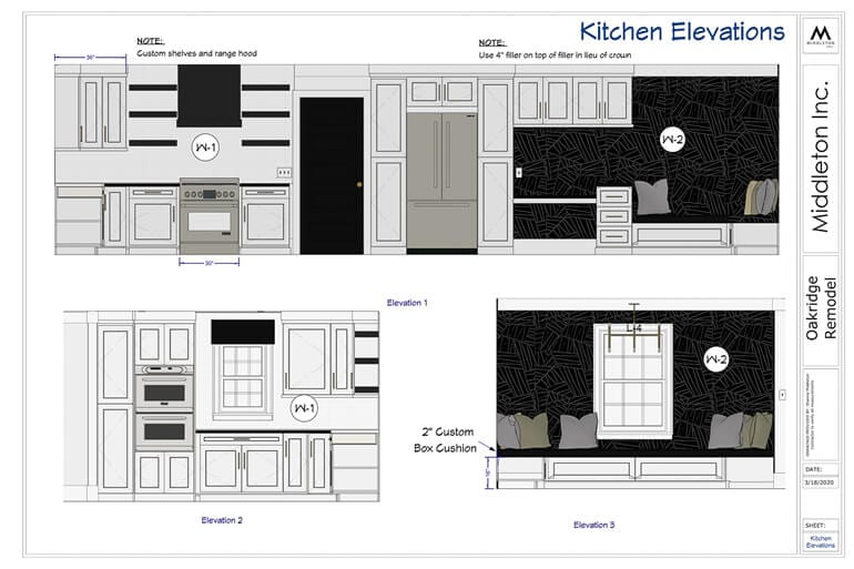 Elevations Sections Remodel New Construction